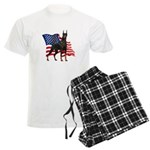 American Flag Doberman Men's Light Pajamas