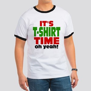 Oh Yeah Tee Shirt Time Ringer T