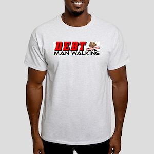 """""""Debt Man Walking: Obama"""" Light T-Shirt"""