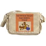 nutty crazy Messenger Bag