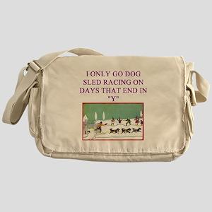 dog racing Messenger Bag