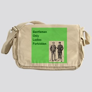 male chauvinist golfers Messenger Bag
