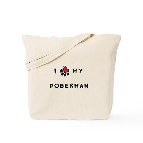 I *heart* My Doberman Tote Bag