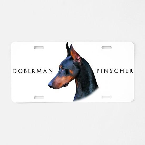 Doberman Aluminum License Plate