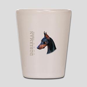 Doberman Shot Glass