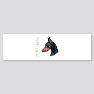 Doberman Sticker (Bumper)