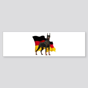 German Flag Doberman Sticker (Bumper)