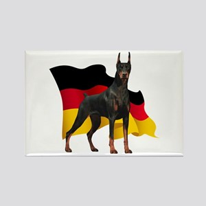 German Flag Doberman Rectangle Magnet