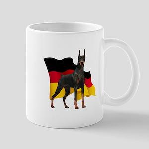 German Flag Doberman Mug