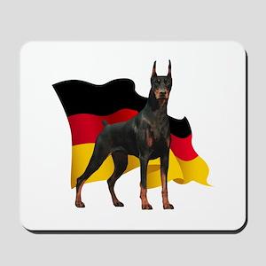 German Flag Doberman Mousepad