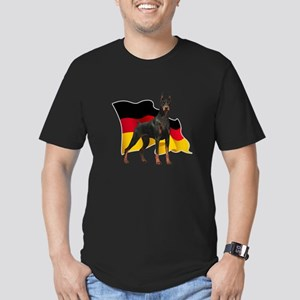 German Flag Doberman Men's Fitted T-Shirt (dark)