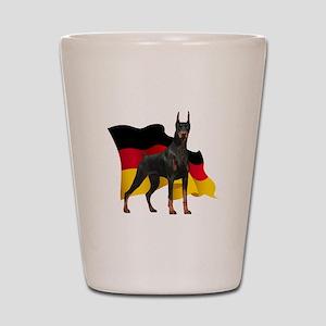 German Flag Doberman Shot Glass