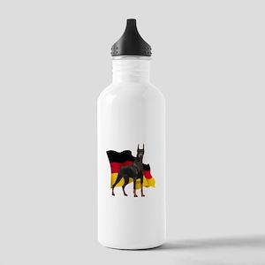 German Flag Doberman Stainless Water Bottle 1.0L
