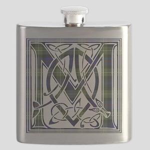 Monogram-MacKenzie htg grn Flask