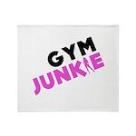 Gym Junkie Throw Blanket