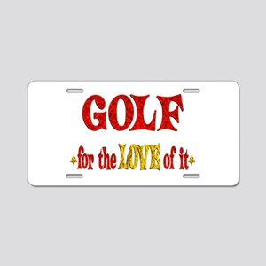 Golf Love Aluminum License Plate