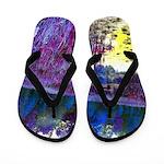 Purple Swamp Trailer Park Flip Flops