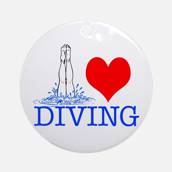Love (heart) Diving Ornament (Round)