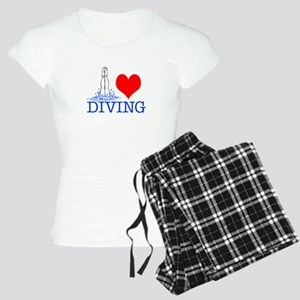 Love (heart) Diving Women's Light Pajamas