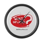 What Inflation Large Wall Clock