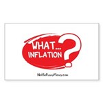 What Inflation Sticker (Rectangle 10 pk)