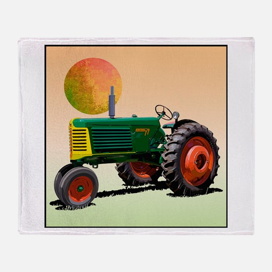Farmers tractor Throw Blanket