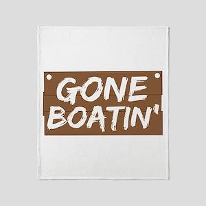 Gone Boatin' (Boating) Throw Blanket