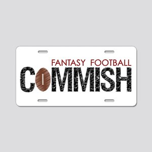 Fantasy Football Commish Aluminum License Plate