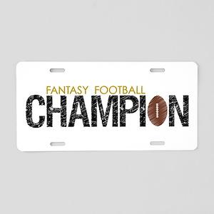 Fantasy Football League Champ Aluminum License Pla