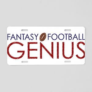 Fantasy Football Genius Aluminum License Plate