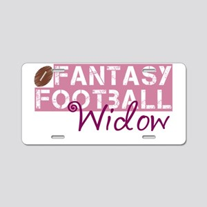 Fantasy Football Widow Aluminum License Plate