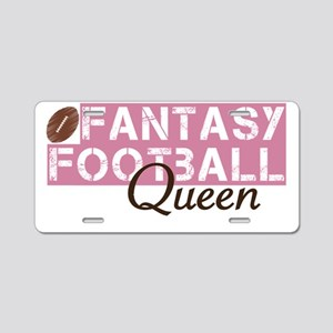 Fantasy Football Queen Aluminum License Plate