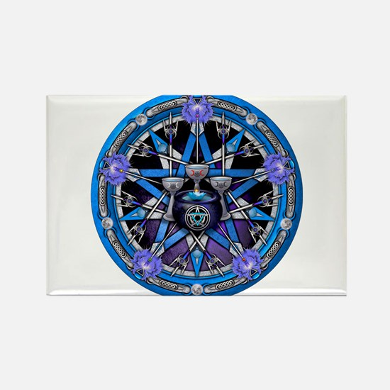 Water Elemental Pentacle Rectangle Magnet