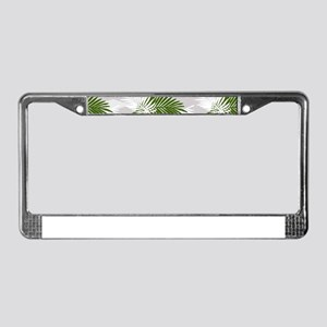 Tropical Jungle Pattern License Plate Frame