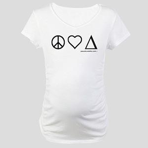 Black w/o text on light Maternity T-Shirt