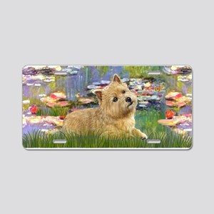 Lilies2 - Norwich Terrier Aluminum License Plate