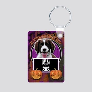 Just a Lil Spooky Springer Aluminum Photo Keychain