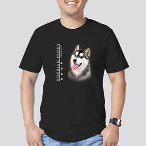 Siberian Husky Men's Fitted T-Shirt (dark)