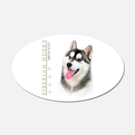 Siberian Husky 22x14 Oval Wall Peel
