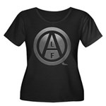 ALF 03 - Women's Plus Size Scoop Neck Dark T-Shirt