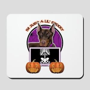 Just a Lil Spooky Dobie Mousepad