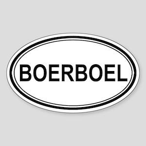 Boerboel Euro Oval Sticker