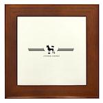 Chinese Crested Framed Tile