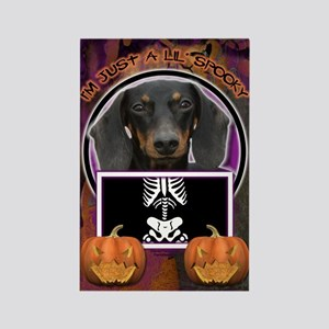 Just a Lil Spooky Doxie Rectangle Magnet