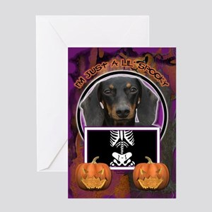 Just a Lil Spooky Doxie Greeting Card