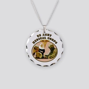 Army - Medical Corps - Medic Necklace Circle Charm