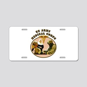 Army - Medical Corps - Medic Aluminum License Plat