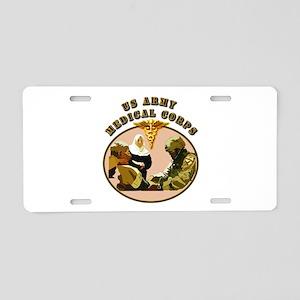 Army - Medical Corps - Medic Aluminum License Plat