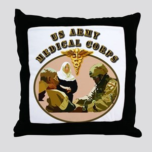 Army - Medical Corps - Medic Throw Pillow