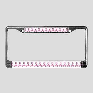 Pink Gem Ribbon License Plate Frame